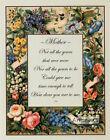 Mother Poem - Art Print Of Vintage Art