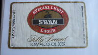 OLD AUSTRALIAN BEER LABEL, SWAN BREWERY PERTH SA, SPECIAL LIGHT 1980s BOND