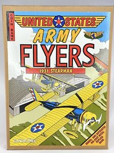 US Army Flyers 1931 Stearman Diecast Biplane Coin Bank Ertl Collectibles  NEW