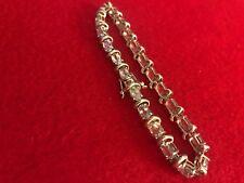 Elegant New Women's Stainless Steel Bracelet. Aquamarine Colored Crystals!