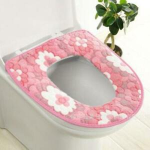 New Bathroom Washable Warmer Soft Toilet Closestool Seat Cover Lid Mat LI