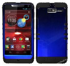 KoolKase Hybrid Cover Case for Motorola Droid Razr M XT907 - Blue (TN)