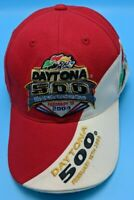 2004 DAYTONA 500 / NASCAR red / white adjustable cap / hat - wool blend