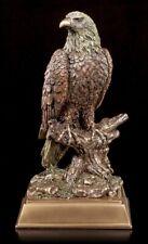 Adler Figur sitzend auf Ast - Statue Bronze-Optik Veronese Weißkopfseeadler
