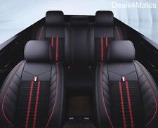 Audi A3 A4 Black Fabric & Leatherette Luxury Breathable Full Set Car Seat Cov