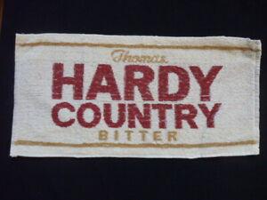 ORIGINAL VINTAGE BEER / BAR TOWEL THOMAS HARDY COUNTRY BITTER