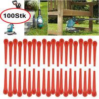 100Stk Kunststoffmesser Ersatzmesser für Gardena Rasentrimmer EasyCut Li-18/23R
