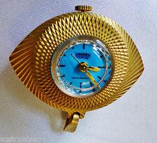VTG Retro DRIMEX Antimagnetic Turquoise face gold tone case Watch Pendant