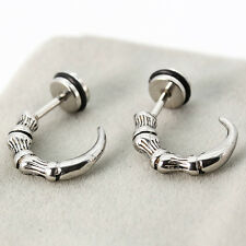 Punk Skull Claw Stainless Steel Studs Earrings Fashion Gothic Hip Hop unisex cq