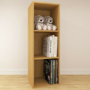Vinyl LP Record Oak Effect Storage Box Cabinet Case Unit Display