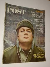 1968 Saturday Evening Post magazine March 23 Tony Curtis as The Boston Strangler