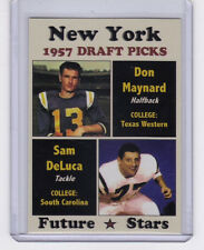 Don Maynard & Sam DeLuca '57 New York Giants Draft Picks - rookies
