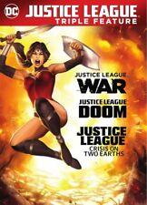 Justice League: War / Doom / Crisis On 2 Earths (REGION 1 DVD New)