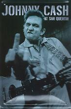 PLAQUE DECORATIVE JOHNNY CASH- BOMBEE-30 X 20 CM-NEUVE-DECO USA /BIKER / COUNTRY