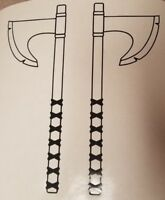 Viking Axe, vinyl decal, Norse