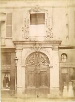 France, Paris, Hôtel de Bacq, rue Monsieur-le-Prince  Vintage albumen print T