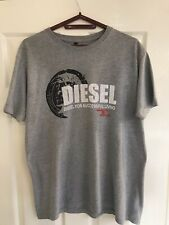 Diesel Clothing size Large Male Tshirt Mens crew Neck T-shirt Printed Shirt Grey