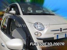 3türer de HEKO viento deflectores FIAT 500 de 2007 deflector de lluvia 2 piezas SWL 15156