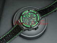 Hublot Big Bang Black Fluo 41mm Black PVD Green Diamonds 341.SV.9090.PR.0922