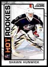2012-13 Score Hot Rookies Shawn Hunwick #525