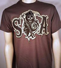 Sons Of Anarchy Soa Tackle Sarga Imitación Parche Samcro Segador Motero Camiseta