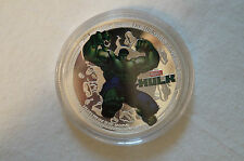 The Incredible Hulk - Superhero - 1 oz. Silver Plated Souvenir Coin in Case.