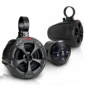 Pyle PLUTV46BTA 800W 4 inch Waterproof ATV Marine Speakers with Bluetooth...