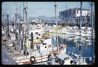 San Francisco Fisherman's Wharf 1950s 35mm Slide Kodachrome Vtg Boat Harbor View