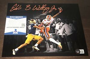 Ej Williams Clemson Tigers Signed Autographed 8x10 Photo Beckett COA N1