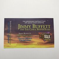 Jimmy Buffett Coral Reefer Band Grand Opening Concert Ticket Stub Vtg March 1999