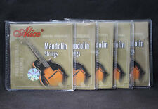 5Pcs High Quality Alice Steel Silver-Plated Coated Copper Mandolin Strings