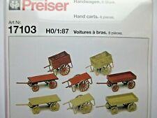 Preiser - Hand Carts Kit (8 Pcs.) #17103