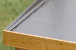 Selbstklebende Dachbahn 5 m² Dachfolie für Gartenhäuser Flachdach (11,80 €/m²)