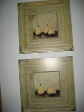 Set of 2  Pear Pictures- Plaques