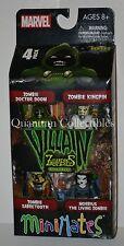 Marvel Minimates Zombies Villains Box Set #2:Dr Doom,Morbius,Kingpin,Sabretooth