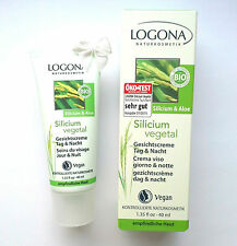 LOGONA Naturkosmetik SILICIUM Vegetal GESICHTSCREME 40 ml Bio Vegan Tag u Nacht