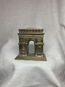 "Vintage Brass 2.25"" Arc De Triomphe Miniature Marked Statue"