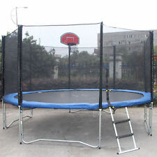 New 12FT Trampoline Bounce Jump Safety Enclosure Net W/ Spring Pad Round outdoo