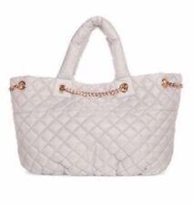 Ariana Grande Quilted Tote bag purse handbag satchel cream white gold chain NIP