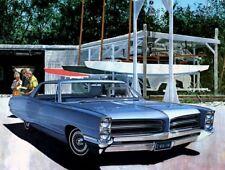 1966 Pontiac Ventura 4 door hardtop, Blue, Refrigerator Magnet, 40 Mil