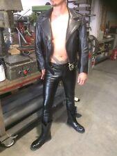 Skinnyfit Low Waist Lederhose Lederjeans Gay Gr 28 Bis 29