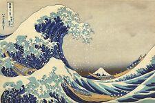 Fine Art Quality Postcard, The Great Wave Off Kanagawa Katsushika Hokusai 92X