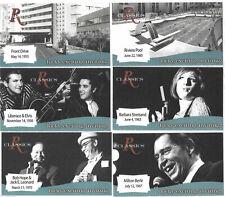 6 Business Cards Riviera Las Vegas Hotel Casino Vintage Pictures Elvis Streisand