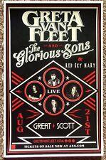 GRETA VAN FLEET 2017 Gig POSTER Allston Concert Massachusetts
