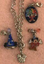 Disney World Parks Retired Sorcerer Mickey Charms & Bracelet