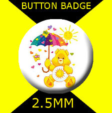 CAREBEARS FUNSHINE BEAR - CULT TV -  Button Badge 25mm