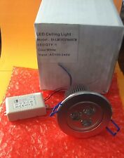 NEW Cool White LED Ceiling Recessed Light Fixture Kit w/ AC Power Supply Driver