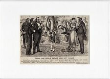 Antique matted print scene Things one would rather have left unsaid / punch 1882