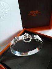 Hermes Sterling Silver 925 PM ST Collier De Chien Bracelet Bangle Cuff Cdc
