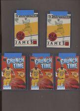 Lot of (5) 2019-20 Donruss Craftsmen Crunch Time LeBron James Lakers